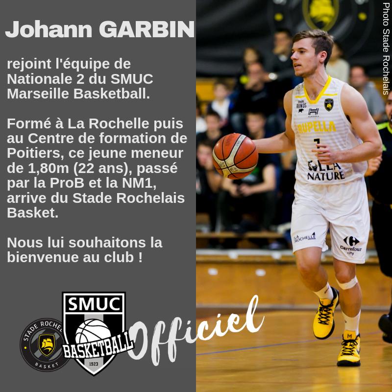 Johann Garbin rejoint l'équipe de NM2 du SMUC Marseille !