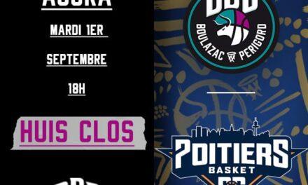 Le match amical entre Boulazac et Poitiers se jouera à huis clos le 1er septembre !