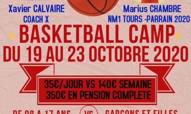 Camp Basket à Châtellerault du 19 au 23 octobre !