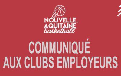 Soutien aux clubs employeurs !