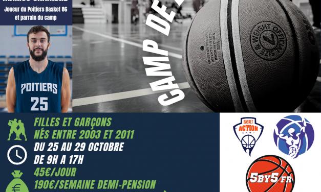 Camp de Basket à Châtellerault du 25 au 29 octobre avec Coach X !